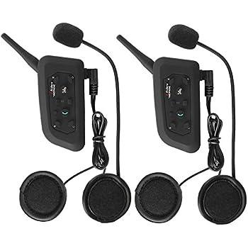 Motorcycle Helmet Bluetooth Headset Intercom Full Face Sports Speaker Low Profile Wireless Headphone 6 Riders