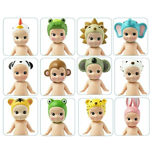 The Angel Doll (Retro-Style Sonny Angel Miniature Collectible Dolls: Set of 4 Sonny Angels from each version of Animal Series-Topped Dolls)