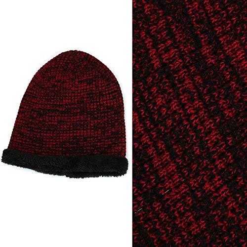 Sombrero de Aire Daily Invierno para Deportes Hombres Rojo Libre Juleya Baggy al de y Hat Crochet Sombrero Hat Interiores Beanie Warm Punto 7qnHP