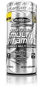 MuscleTech Platinum Multi-Vitamin, Advanced Multi-Vitamin Formula, 90 Caplets