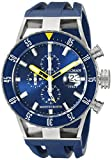 Locman Italy Men's 051200BYBLNKSIB Montecristo Professional Divers Chronograph Analog Display Automatic Self Wind Blue Watch