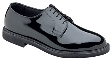 4e66eb2338 Thorogood Women Poromeric Gloss Black Lace Oxford Uniform Police Shoe- 8 W