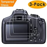 Compatible Canon EOS Rebel T6 T5 1300D 1200D Screen Protector, 3 Packs Kimilar Waterproof Clear Touch 9H Tempered Glass Screen Protector Compatible Canon EOS Rebel T6 T5 1300D 1200D