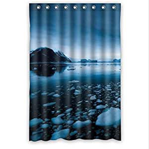 Beauty Of The Ocean Of Blue Ice,The Blue Ice Of Antarctica Custom 100% Polyester Waterproof Shower Curtain 48 x 72