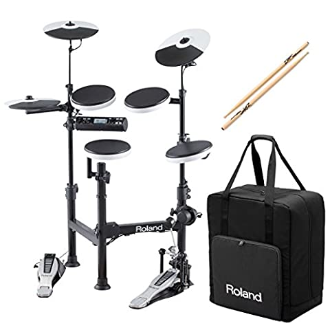 Roland V-Drums TD-4KP Portable Electronic Drum Set w/ CB-TDP Carrying Case & Anti-Vibe Drumsticks - (Roland Electronic V Drums)