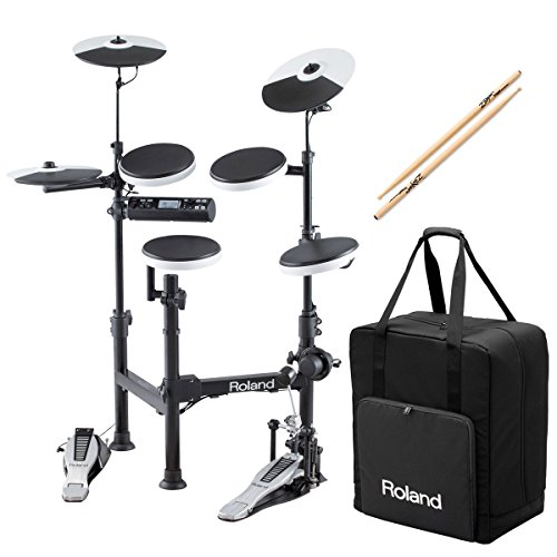 Roland V-Drums TD-4KP Portable Electronic Drum Set w/ CB-TDP Carrying Case & Anti-Vibe Drumsticks - Bundle