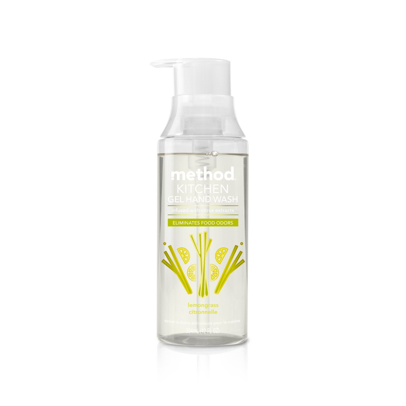 Method Naturally Derived Odor Eliminating Kitchen Hand Wash, Lemon Grass, 6 Count by Method
