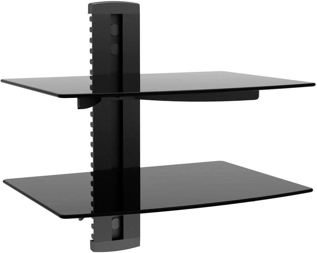 Monoprice 110479 2 Shelf Wall Mount Bracket for TV Components – Black