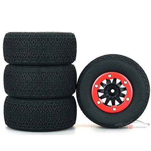 Haodasi Haodasi Haodasi 4PCS Tires Tyres Wheel Rim Reifen Reifen Felge für 1/10 Scale Traxxas Slash Hobao 10SC Huanqi 727 a61d45