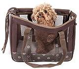 PET LIFE 'Surround View' Posh Collapsible Fashion Designer Pet Dog Carrier, Medium, Mud Brown