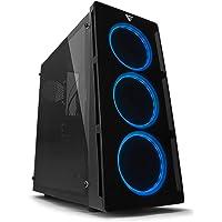 COMPUINOVA CPU Gamer Intel Core i7 8700, Gráficos Nvidia GTX 1060 6GB, 16GB RAM DDR4, D.D. 2TB, Gabinete Game Factor LED RGB y Control Remoto.