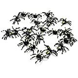 Redriver Halloween Small Scary Spiders Props, Horror Joke Toy(5 Pcs)