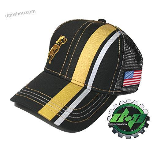 Mack Bulldog semi Truck Truckers hat Ball Cap Summer mesh Back Diesel Gear Gold -
