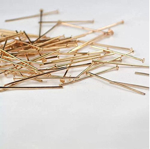 500 Pieces DIY Craft Sequin Pins Gold or Silver, Sequin Pins for Crafts, 28 mm (Rose Gold)