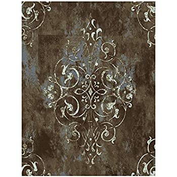 HaokHome 94005 Vintage Damask Thick Peel and Stick