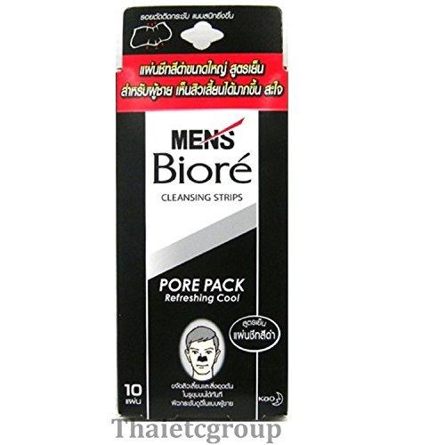 10 x Original Biore Nasenpflaster Men Black - Porenreinigung für Männer - Made in Japan - Nasenpflaster gegen Mitesser - Nose Stripes