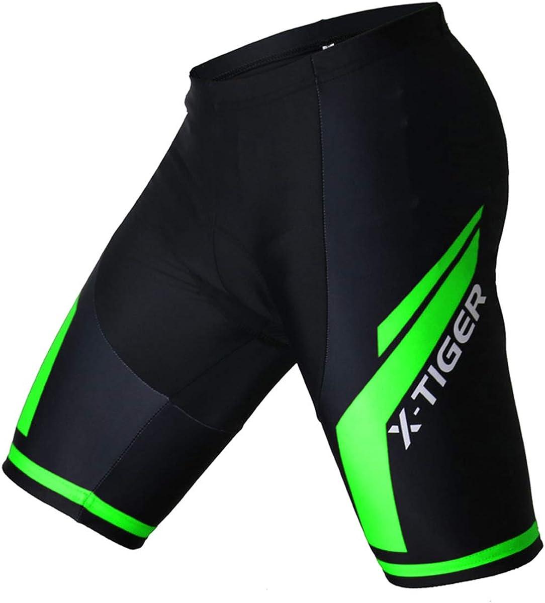 da uomo da ciclismo traspiranti elastici sportivi 3D con imbottitura ad alta densit/à in spugna pantaloncini corti per la bicicletta XGC