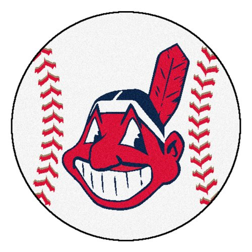 Fanmats MLB Cleveland Indians Nylon Face Baseball Rug
