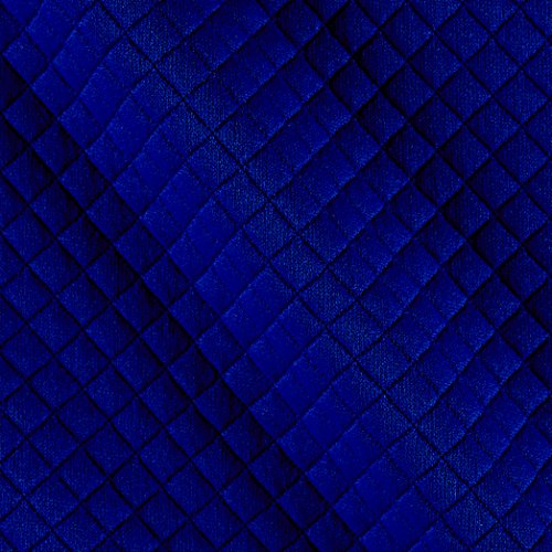 TELIO Mini Quilted Knit Diamond Blue Fabric By The Yard (Quilted Fabric)