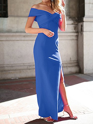 Split Off Ashuai Party Shoulder Side Royal Slim Prom Gown Evening Women's Dress Long Sexy Bww4x58Zq