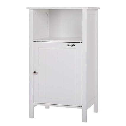 Amazon Bonnlo Bathroom Storage Free Standing Floor Cabinet With