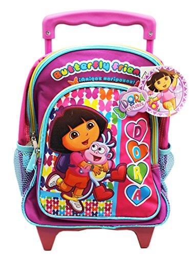 Rolling Friends Backpack (Dora the Explorer Dora and Boots Best Friends Preschool Rolling Backpack (12in))