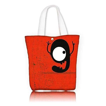 aaa222d0dd3b Amazon.com  Ladies canvas tote bag -W12 x H7.8 x D3 INCH Reusable ...
