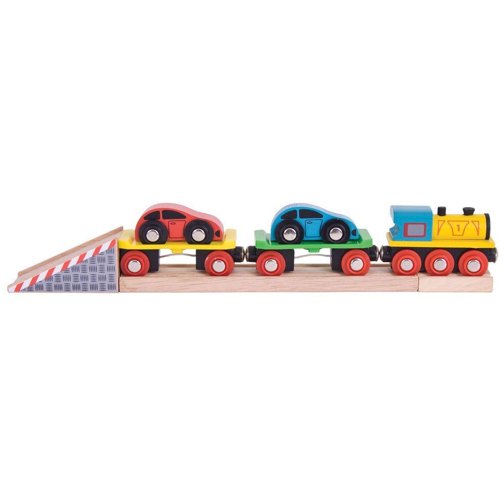 Bigjigs Rail Autozug auf 2 Schienen Bigjigs Toys BJT199
