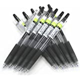 Pilot Juice Retractable Premium Gel Ink Roller Ball Pens, Ultra Fine Point,-0.38mm- Black Ink,-value Set of 10