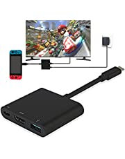 Y Team Nintendo Switch Adaptateur HDMI USB Type C vers 4K 1080 HDMI Convertisseur Cȃble pour Nintendo Switch/Macbook Pro/Samsung Galaxy S8