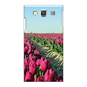 Anti-Scratch Hard Cell-phone Case For Samsung Galaxy A5 With Provide Private Custom High Resolution Tulip Field Skin MarieFrancePitre