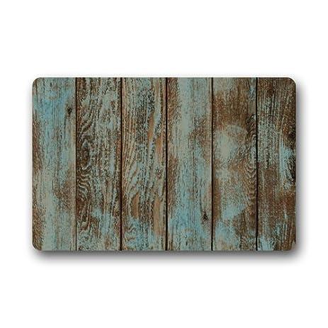 Amazon.com : Rustic Old Barn Wood Door Mats Indoor Bathroom ...