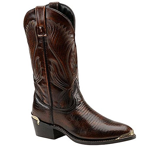 Laredo Men's New York Lizard Print Cowboy Boot Medium Toe Cognac 12 D(M) US ()