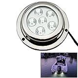 Outdoor Lights Stainless Steel 18W White Light Cree LED Underwater Boat Marine Light Lamps for Boat Yacht, DC 8-28V Garden Lights