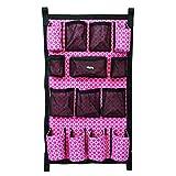 Weaver Leather Trailer Grooming Bag, Pink Quatrefoil