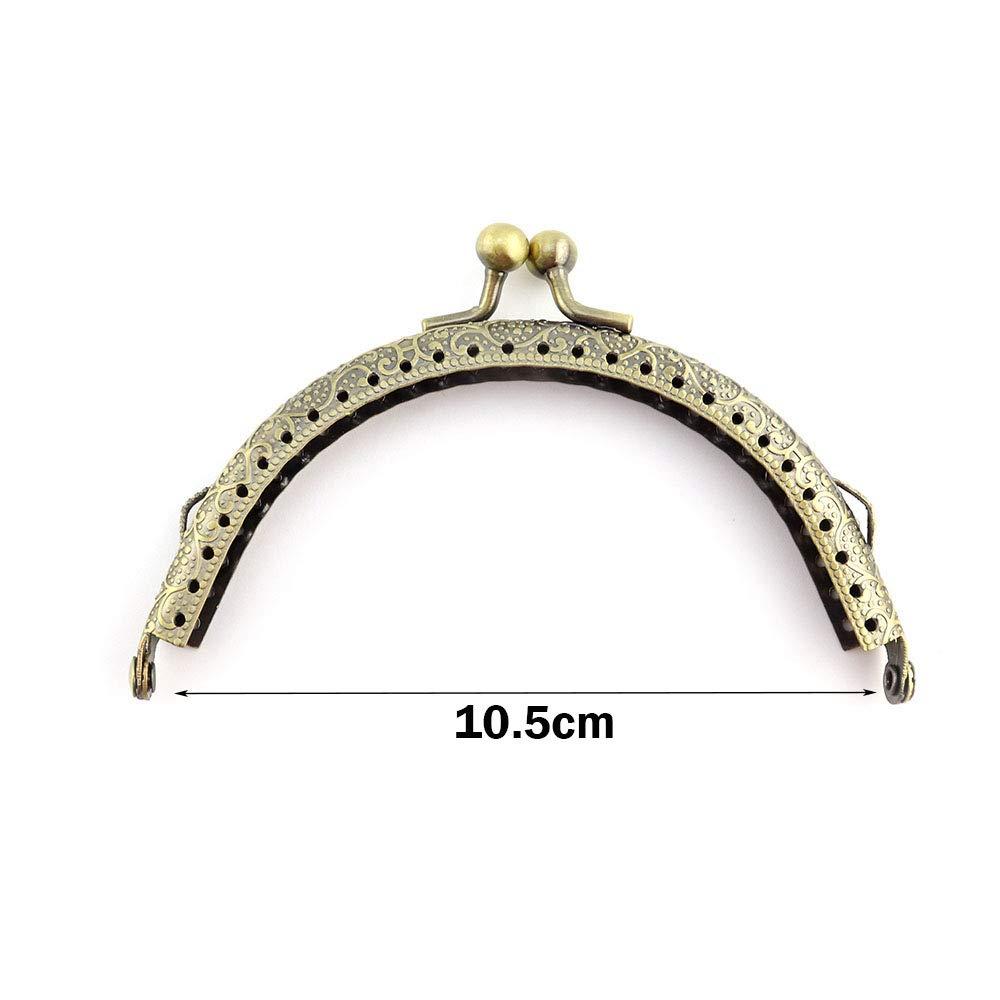 RUBY - Boquilla para bolsos y monederos Cierre de boquilla para bolso Cierre monederos boquilla de bolso para Patchwork (Bronce, 10.5cm)