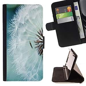 Dragon Case- Mappen-Kasten-Prima caja de la PU billetera de cuero con ranuras para tarjetas, efectivo Compartimiento desmontable y correa para la mu?eca FOR Sony Xperia Z3 D6653- Dandelion