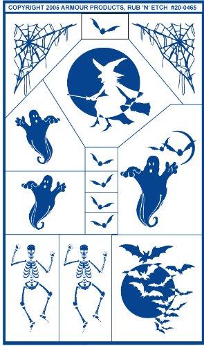 Armour Etch Stencil Rub N Etch Stencil, Halloween, 5-Inch by ()