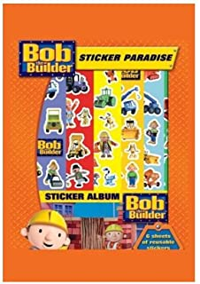 Bob The Builder Childrens Boys Girls Sticker Paradise Activity Set Ages 3+
