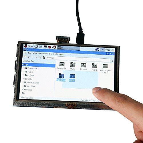 SainSmart 5 inch LCD for Raspberry Pi 3 2 1 Model B+ A+ B 800x480 Touch LCD Screen HDMI Display Module Mini PC by SainSmart (Image #7)