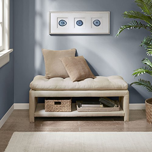Ankara Accent Bench Cream See below by Madison Park