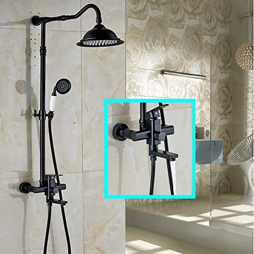 BXU-BG 蛇口オイルラビングブロンズ仕上げの壁には、浴室のシャワーの蛇口セットでシングルハンドルのミキサーのタップ、マルチマウント