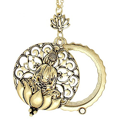 Antiqued Filigree Buddhist Magnifier Necklace
