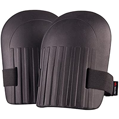 NoCry Lightweight Home & Gardening Knee Pads with Waterproof EVA Foam Cushion, Soft Inner Liner, and Easy Fit with Adjustable Velcro Straps