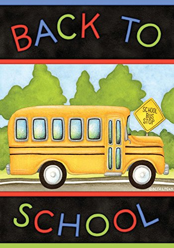 - Back to School Bus Autumn House Flag Fall Briarwood Lane 28