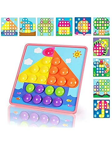 2b7d01628753 NextX Button Art Preschool Learning Toys Color Matching Puzzle Games Best  Gift for Girls (Pink