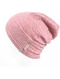 Kids Boys Slouchy Beanie - 100% Organic Cotton Soft Hypoallergenic Infant Toddler Girls Cap Made in Japan Red