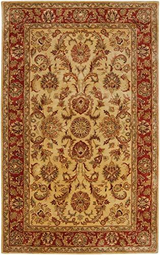 (Surya Ancient Treasures 3'3 x 5'3 Hand Tufted Wool Yellow Red Rug)