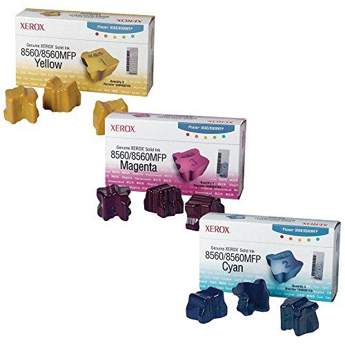 (Xerox 108R00723, 108R00724, 108R00725 Standard Yield Ink Cartridge Set Colors Only (CMY))
