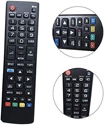 QLING - Mando a Distancia para LG TV y LG Smart TV AKB73715601 ...